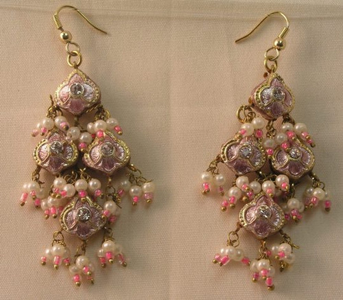 Lak Earring Medium Pink JLAKE4P