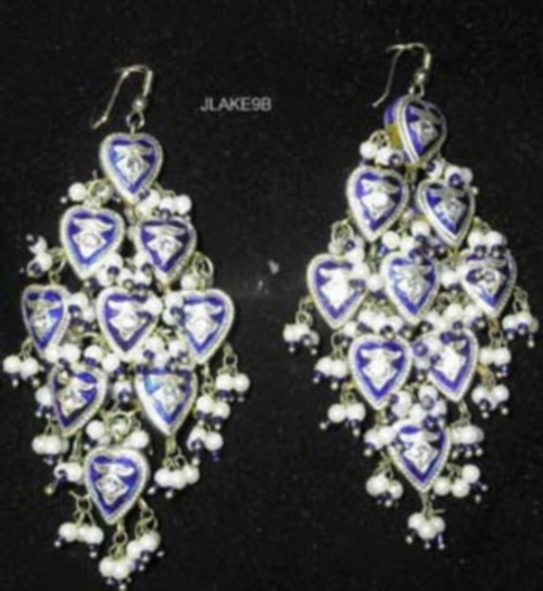 Lak Earrings Large Blue JLAKE9B