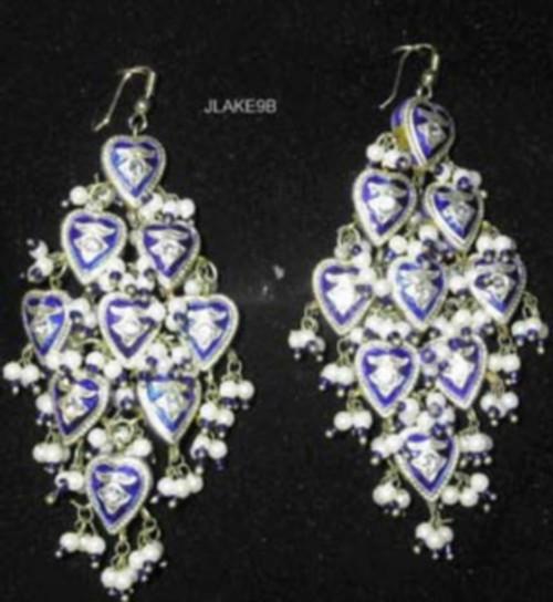 Lak Earrings Large Blue JLAKE9B