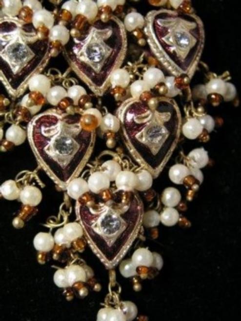 Lak Earrings Large Garnet JLAKE9U