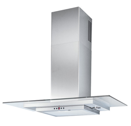 90cm Wallmount Rangehood Stainless steel and crystal glass