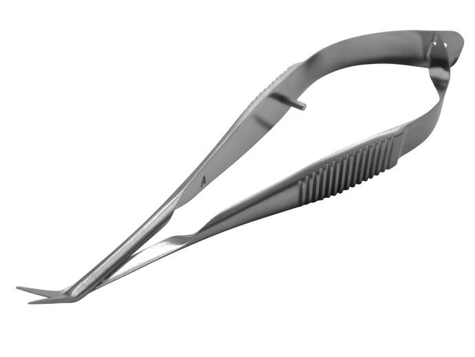 Gills-Vannas Scissors, 6 mm Blades Angled on Flat