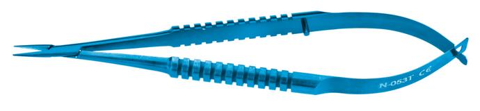 Castroviejo Needle holder; Delicate Jaws 9 mm; Straight, Titanium