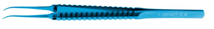Curved Corneal Forceps, Titanium; 0.12 mm