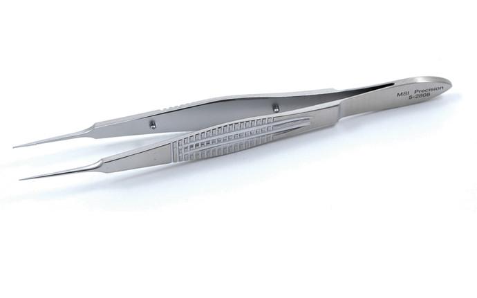 Castroviejo Suturing Forceps, Wide Serrated Handle 0.3mm Teeth