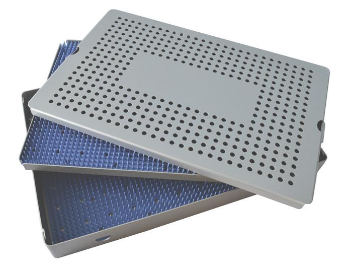 Aluminum Sterilization Tray Extra Large Deep Double Layer 15'' x 10'' x 1.5'' (CalTray A7100)