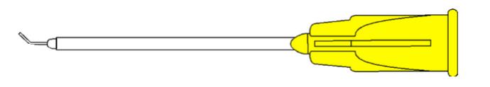 7515 Vitreoretinal Cannula - Angled 30G