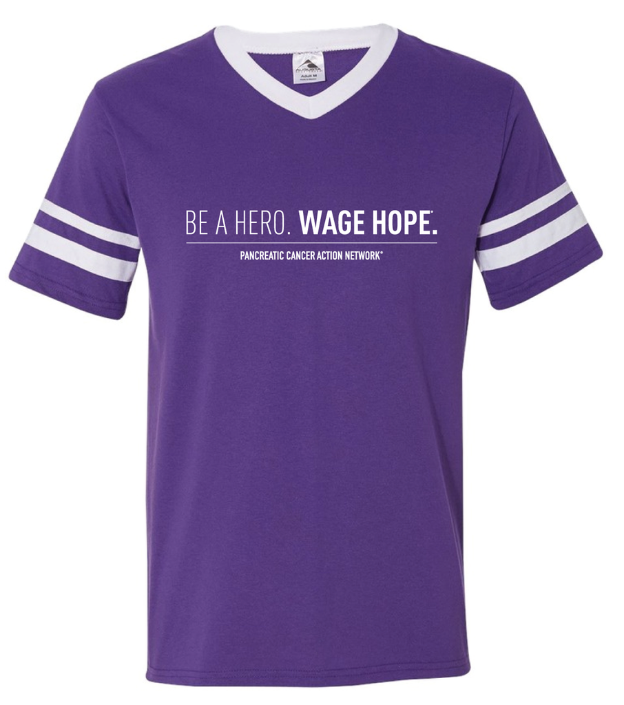BE A HERO. WAGE HOPE.  Striped Jersey T-Shirt/Unisex/For Her