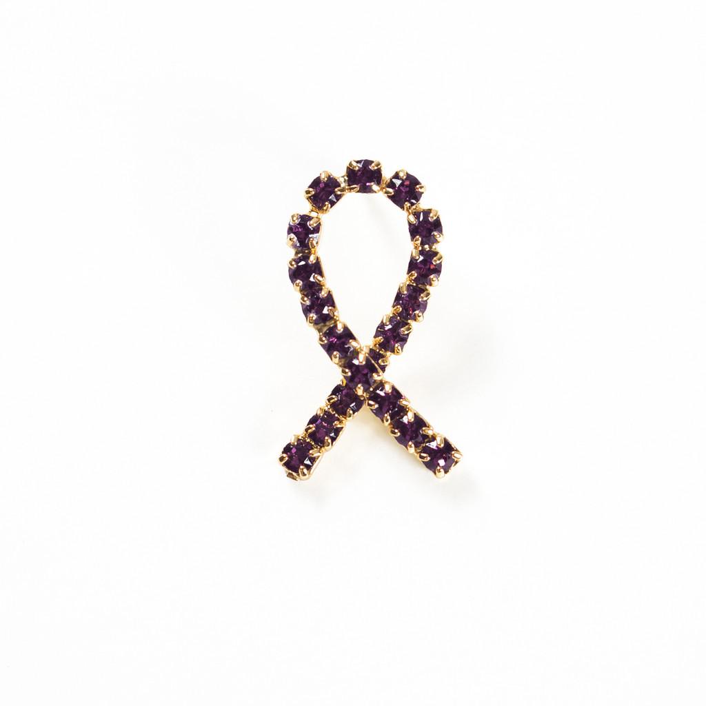 Crystal Ribbon Pin