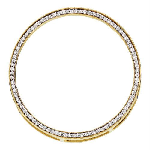 14kt Yellow Gold Womens Round Diamond Circle Outline Pendant 1/2 Cttw