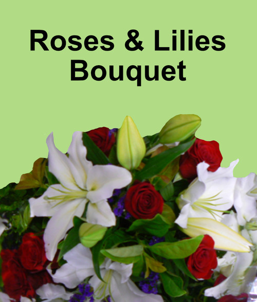 Roses and Lilies Bouquet $85-$150