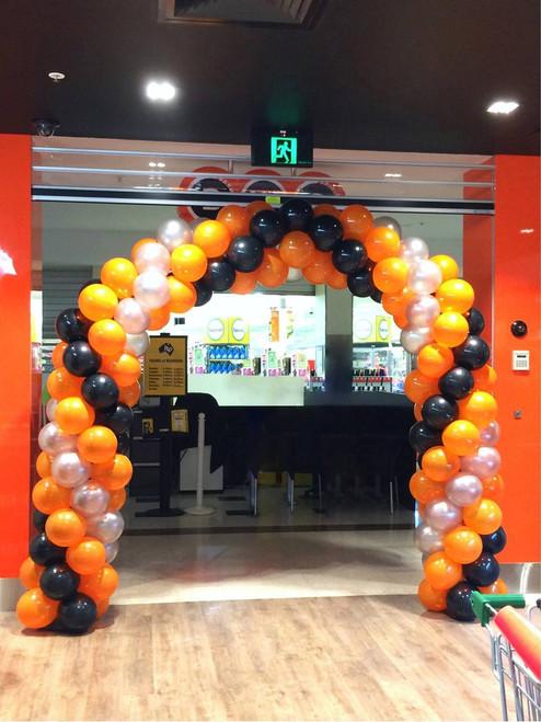 Orange, Black & Silver Arch