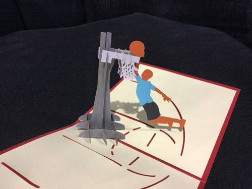 Basketball  Handmade 3D Kirigami Card