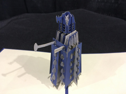 Dalek Dr Who Handmade 3D Kirigami Card