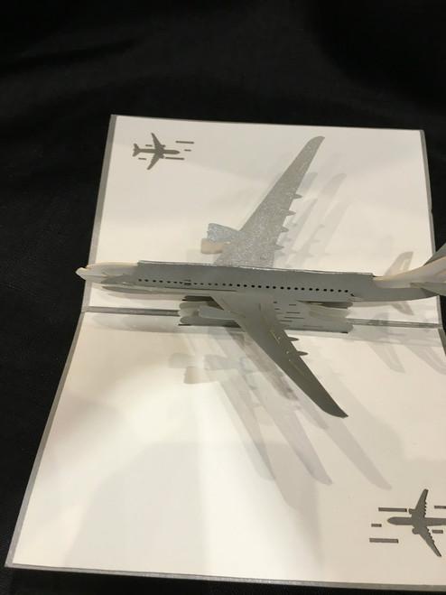 Jet Airplane Handmade 3D Kirigami Card