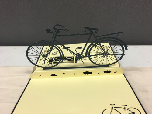 Bike Handmade 3D Kirigami card