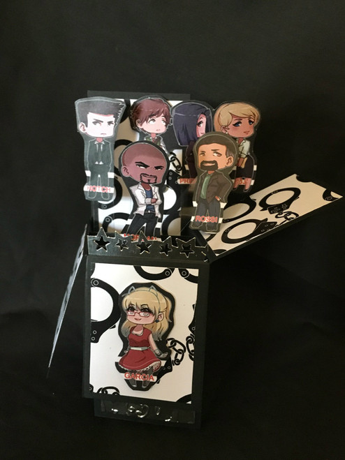 Criminal Minds  All Boxed Up  3D Pop Up Card  6 X 4 with envelope