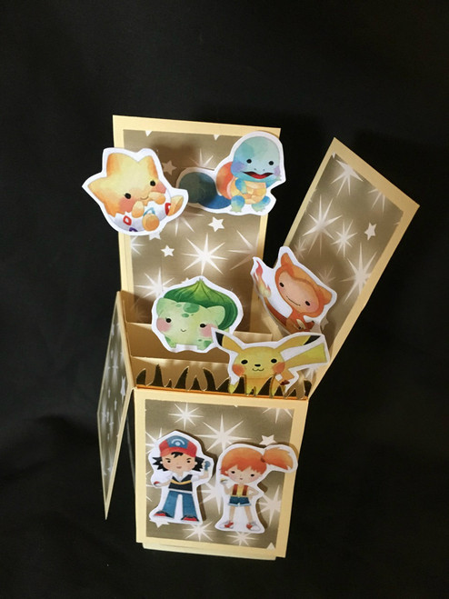 Pokemon  All Boxed Up  3D Pop Up Card  6 X 4 with envelope