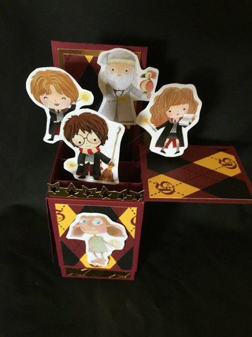 Harry Potter  All Boxed Up  3D Pop Up Card  6 X 4 with envelope
