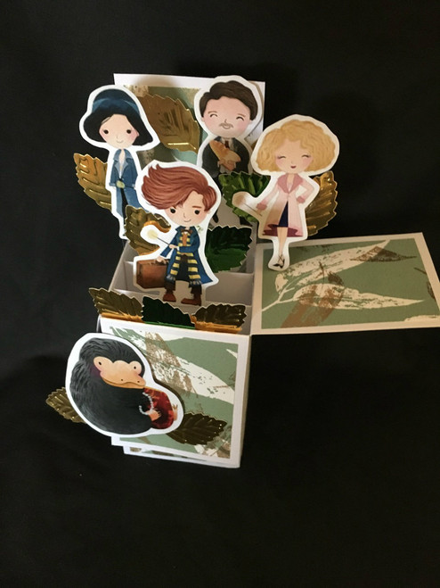 Fantastic Beasts  All Boxed Up  3D Pop Up Card  6 X 4 with envelope