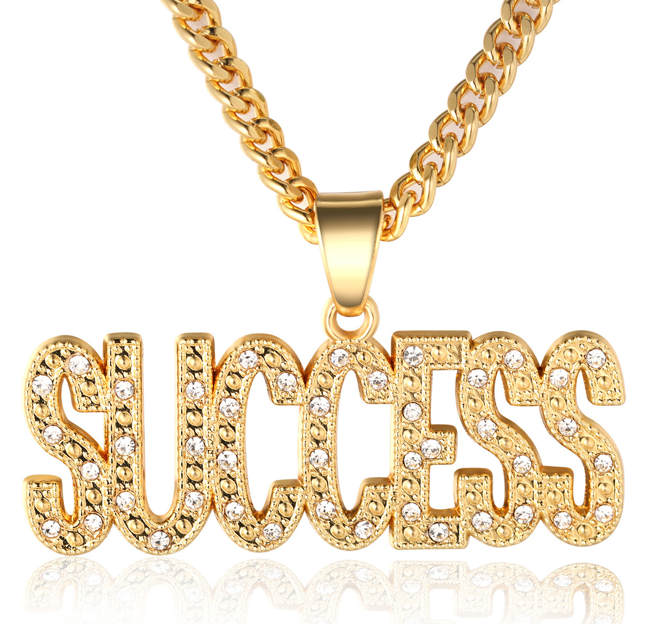 Halukakah in gold we trust mens 18k real gold plated success halukakah in gold we trust mens 18k real gold plated success letter pendant necklace with free aloadofball Image collections