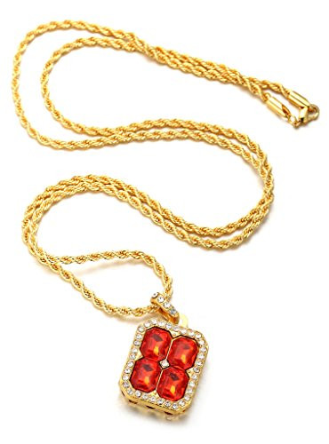 Halukakah ruby kingdom 18k real gold plated gemstone pendant halukakah ruby kingdom 18k real gold plated gemstone pendant necklace with free rope aloadofball Gallery