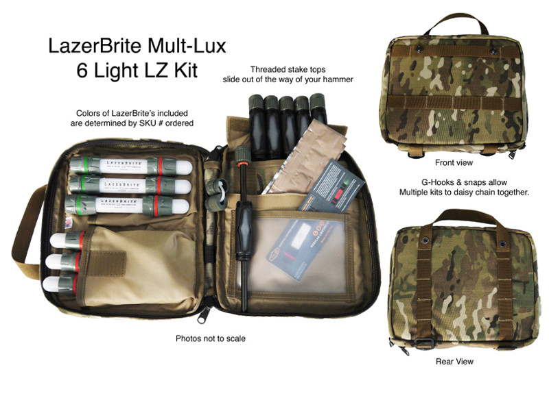 LazerBrite 6 Light LZ/DZ Marker Complete - Kit