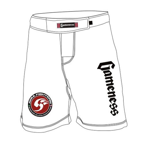 Gameness Flex Board Shorts WHITE