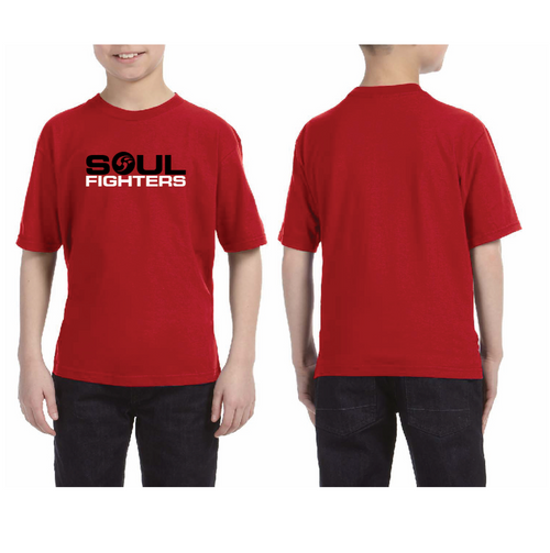 Kids's Red Chest Logo T-shirt