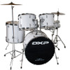 DXP  'Pioneer ' Series Rock Drumkit with Cymbals & Throne     White