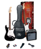 ESSEX  Beginners ST Style Electric Guitar & Amp Pack  Left Handed Black