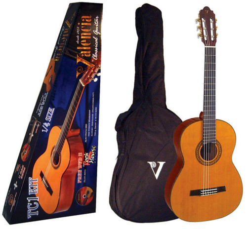 Valencia 1/4 Size Guitar Package