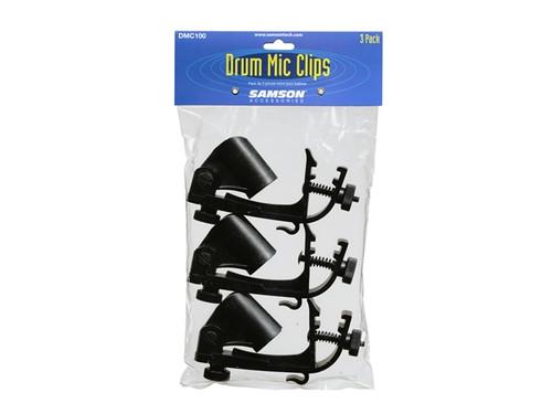 Samson  DMC100  Drum rim mount Mic Clip 3 pack