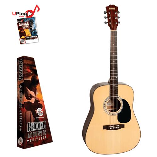 REDDING   Left Handed Dreadnought acoustic Guitar   Natural