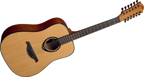 """LAG   Tramontane Stage """"66"""" Series 12 String Dreadnought Acoustic  Guitar"""