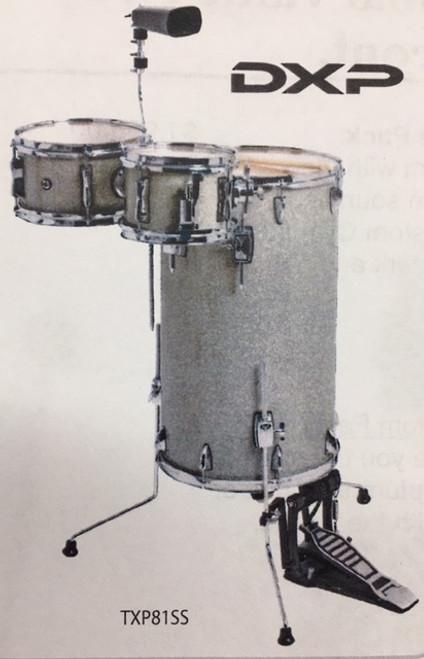 "Cocktail Drum Kit   "" Silver Sparkle"