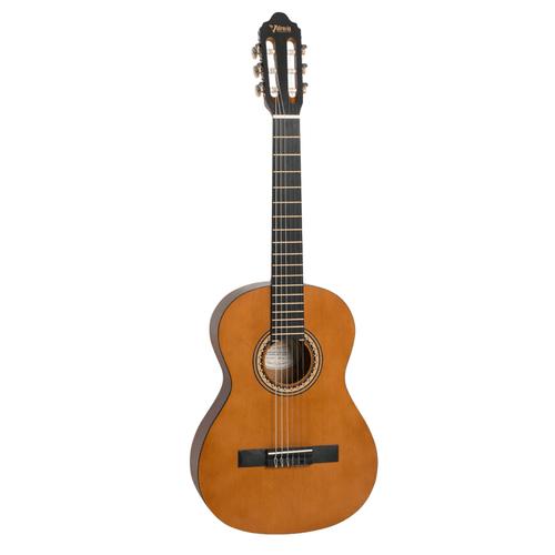 Valencia  ¾ size classical guitar    Antique natural satin/matt finish.