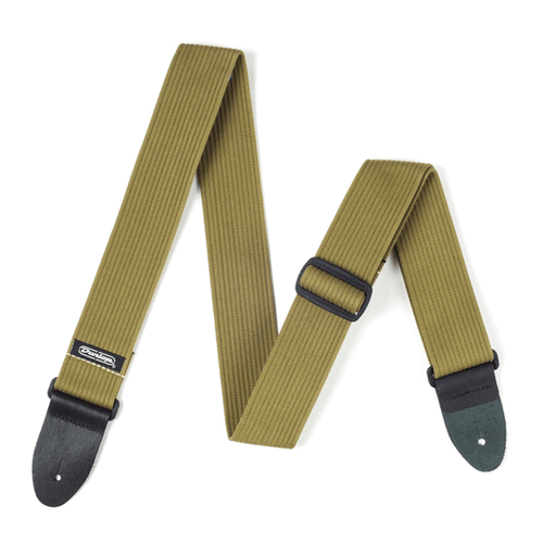 """Dunlop 2"""" Ribbed Cotton Strap. (Olive Green)"""