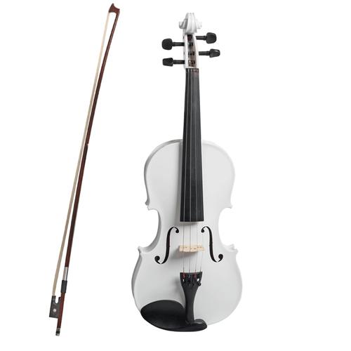 VALENTI   Colour Series   4/4 Violin Outfit Metalic White