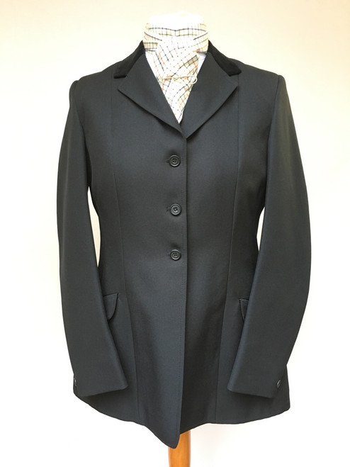 Ladies' black show coat by Rosette, 40""