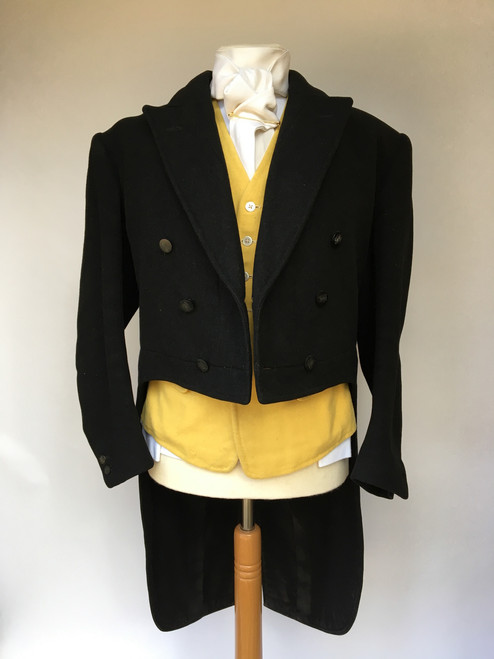"Bernard Weatherill Black Heavyweight Tailcoat, 40"" (broad shoulders)"