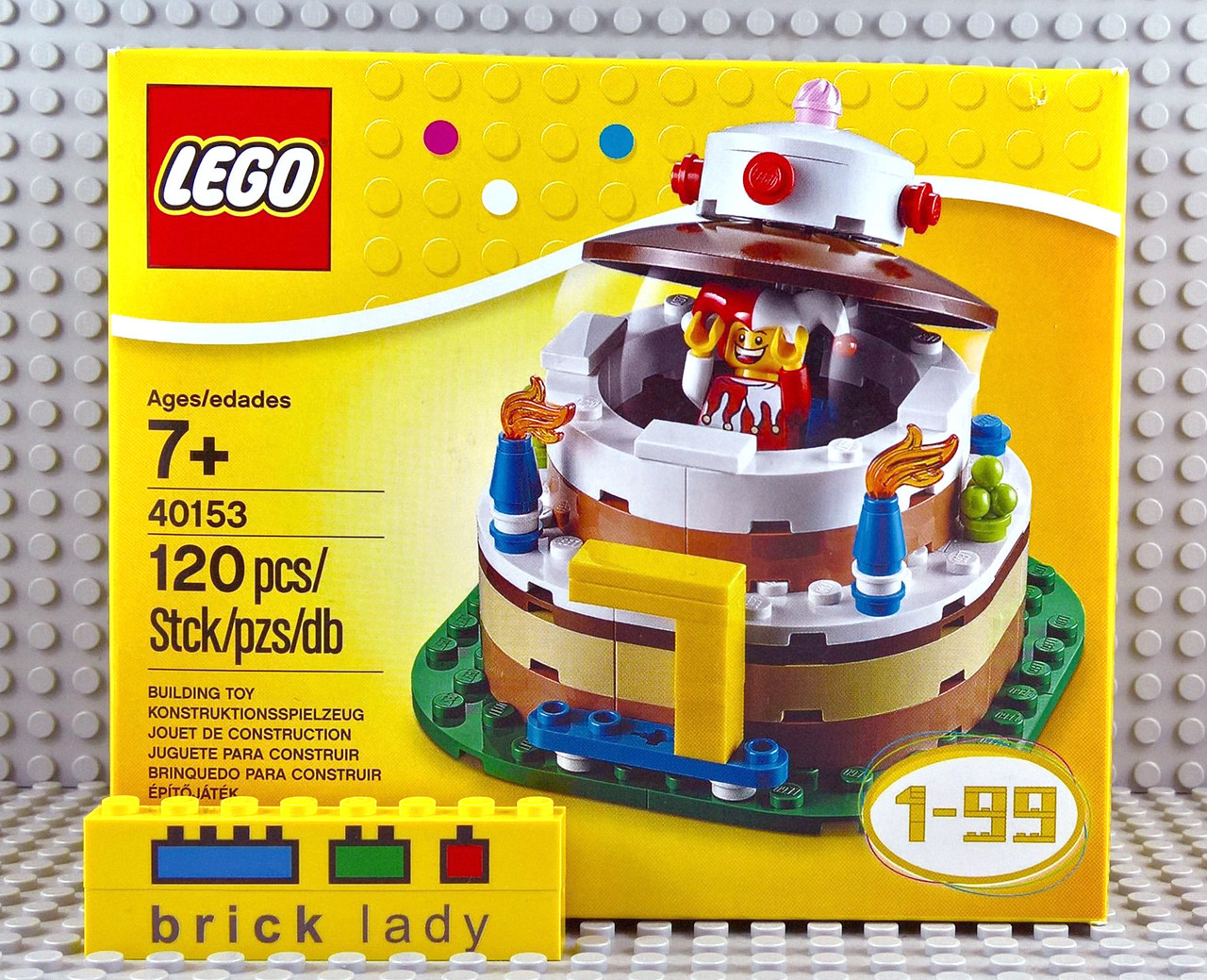 40153 LEGO® Seasonal Birthday Table Decoration - Brick Lady