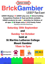 Brick Lady is popping up at Brickgambier a LEGO®  Fan Event
