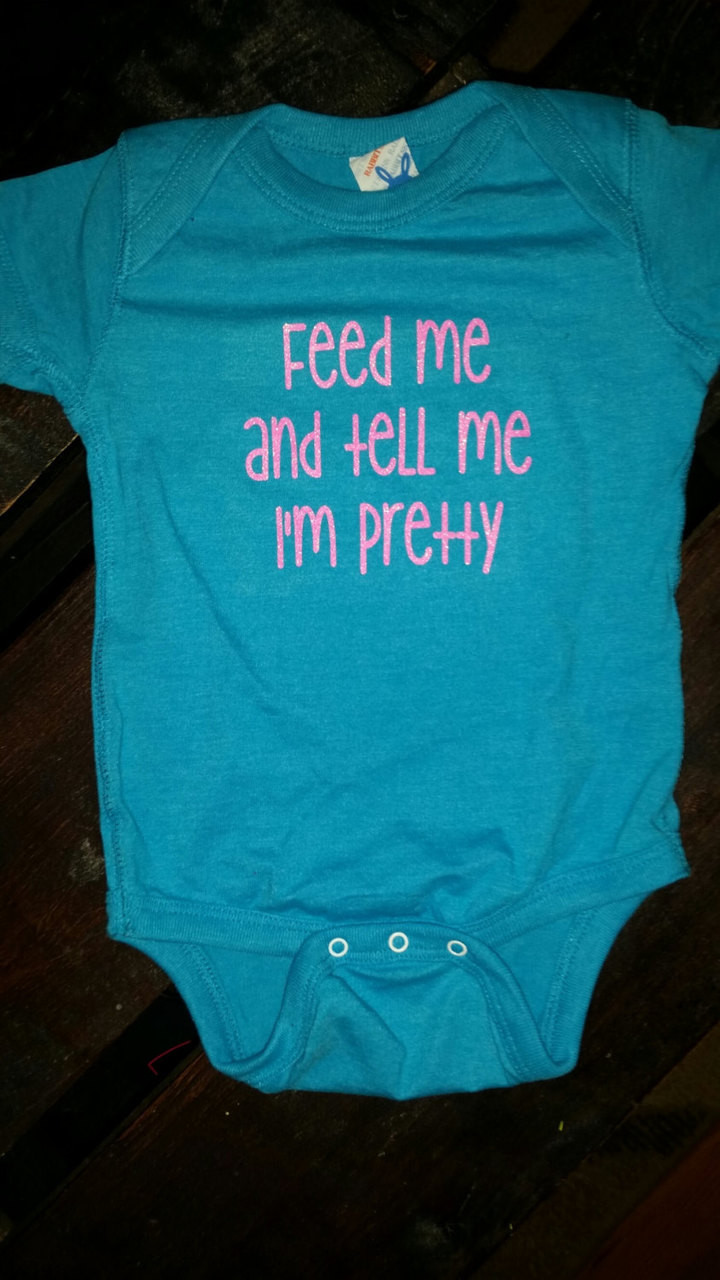 Baby onesies baby girl onesie feed me and tell me im pretty funny onesie negle Gallery