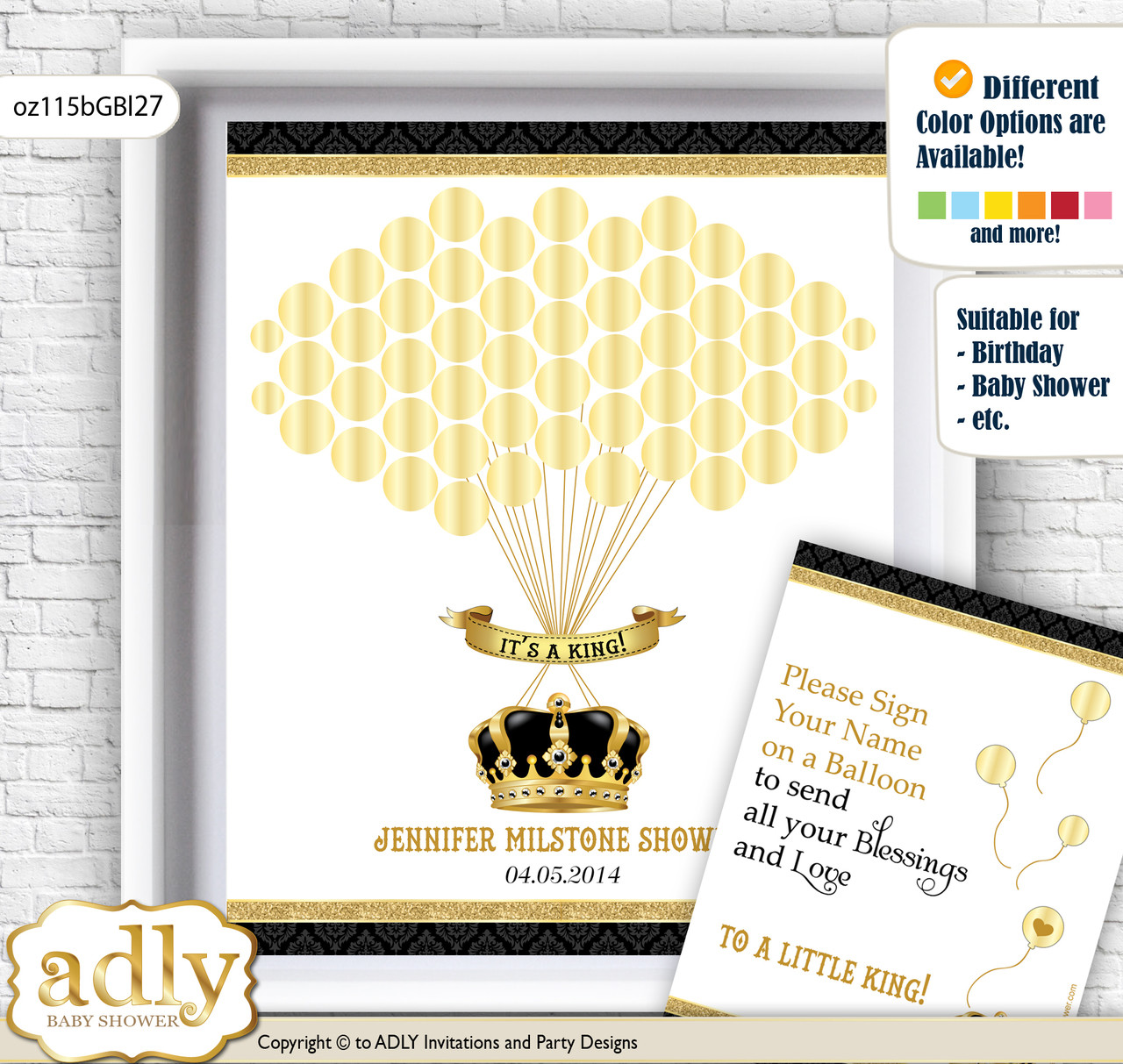 Royal King Guest Book Alternative for a Baby Shower, Creative ...