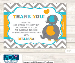 Boy Peanut Thank you Printable Card with Name Personalization for Baby Shower or Birthday PartyBoy Peanut Thank you Printable Card with Name Personalization for Baby Shower or Birthday Party
