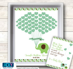 Boy Peanut Word Search Game, Printable Card for Baby Peanut Shower DIY Sage Brown Elephant Boy Peanut Guest Book Alternative for a Baby Shower, Creative Nursery Wall Art Gift, Sage Brown, Elephant