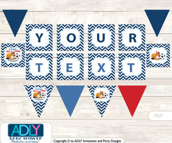 Personalized Boy MVP Printable Banner for Baby Shower, Basketball, All Star