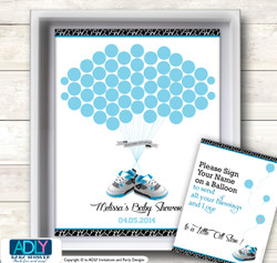 Sneakers Jumpman Guest Book Alternative for a Baby Shower, Creative Nursery Wall Art Gift, Black, MVP