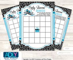 Printable Black Jumpman Bingo Game Printable Card for Baby Sneakers Shower DIY grey, Black, MVP